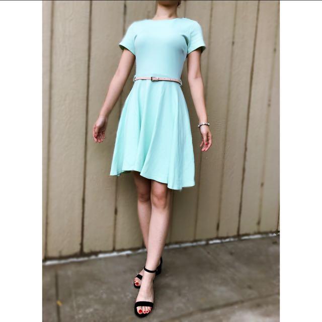 Mint A-line Dress