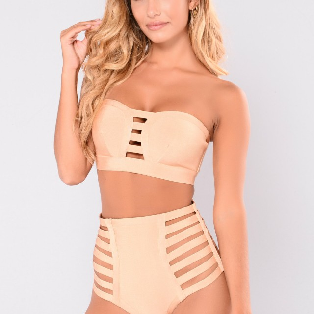 New Fashion Nova Bandage Bikini Set