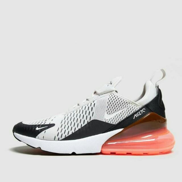 1d70ef971a Nike Air Max 270 Light Grey/Hot Punch, Men's Fashion, Footwear ...