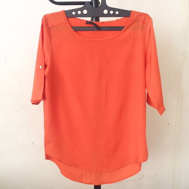 Orange Loose Top