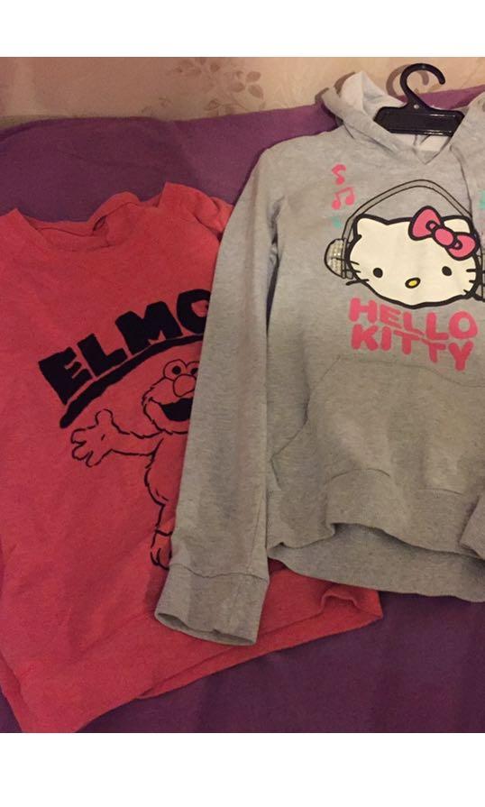 Pajama hello kitty and Elmo jumper bundle