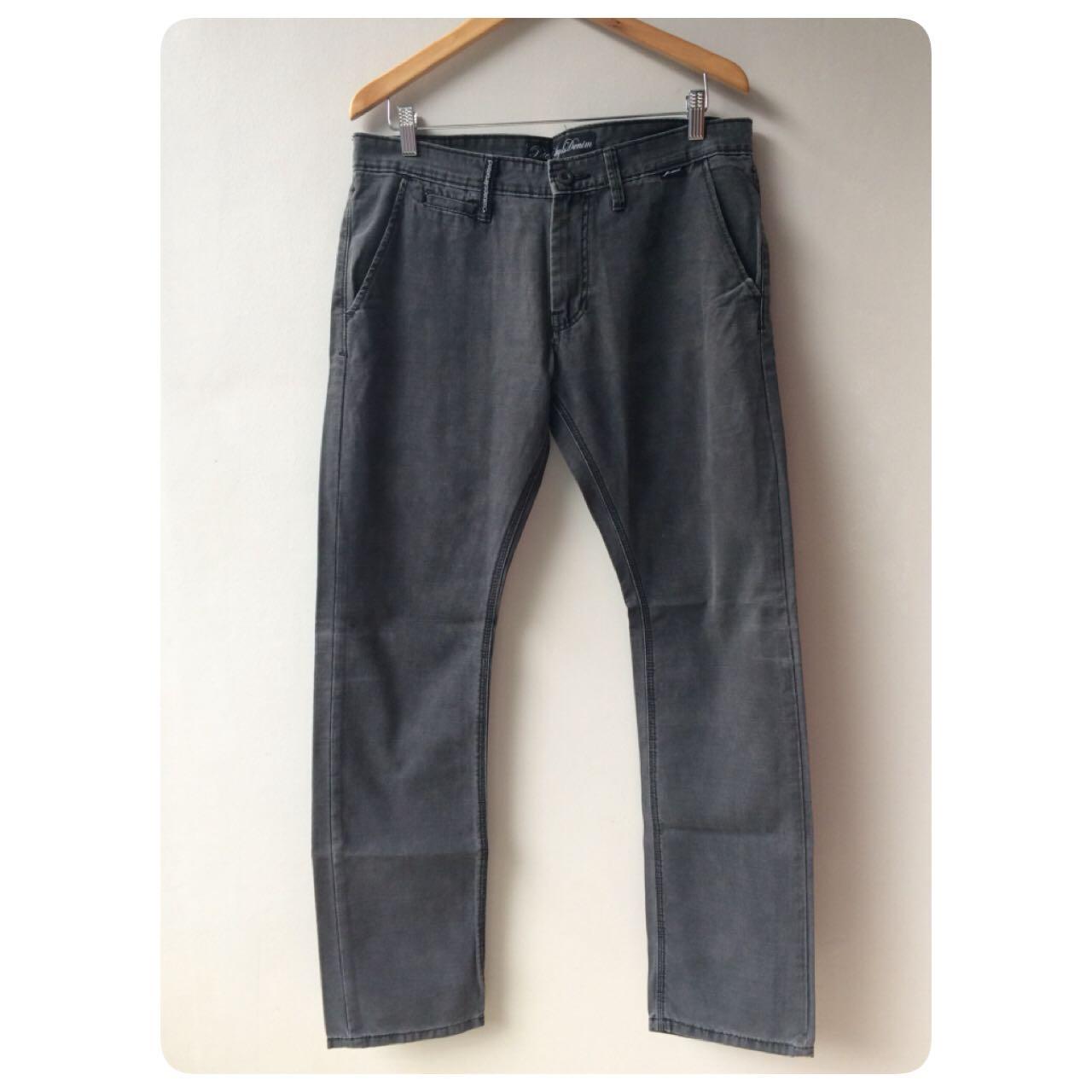 PETER SAYS DENIM men's dark grey denim jeans