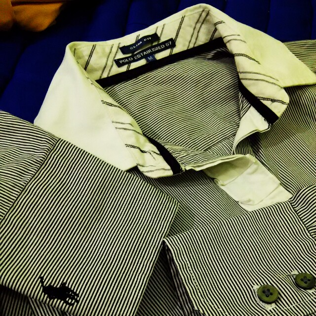 Polo fit to L slimfit