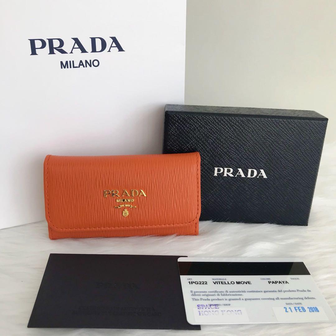75c4bf05c6ea60 ... spain prada 6 keys holder preloved womens fashion bags wallets on  carousell 4ca74 4fd44