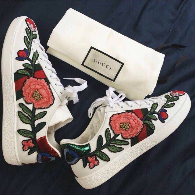 Ready Stock | Gucci Floral Ace Sneakers