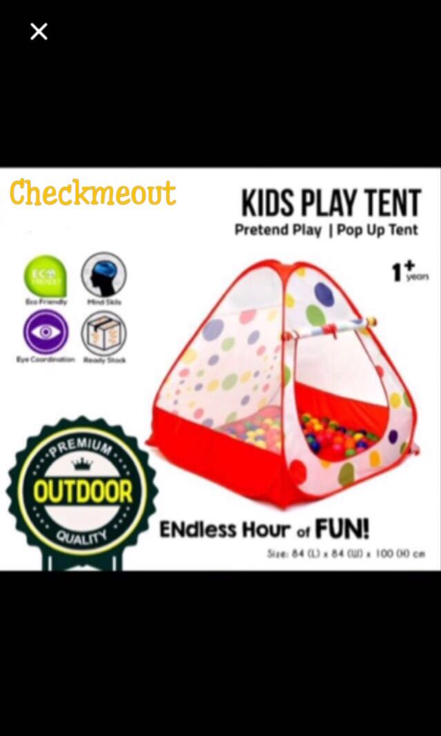 🌈READY STOCK🌈Kids Play Tent