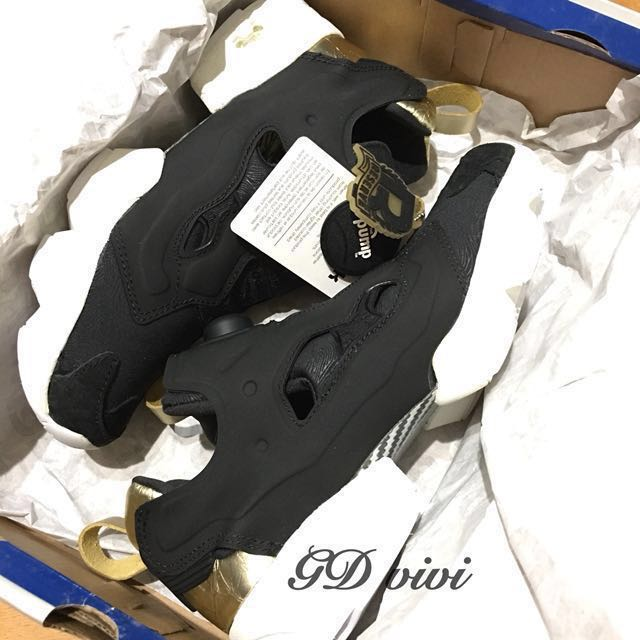 Reebok instapump fury pm黑金 樹紋 女鞋 V62778 非熊貓 充氣 聖誕 禮物