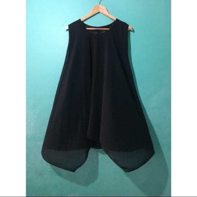 REPRICED Basic Black Flowy Dress
