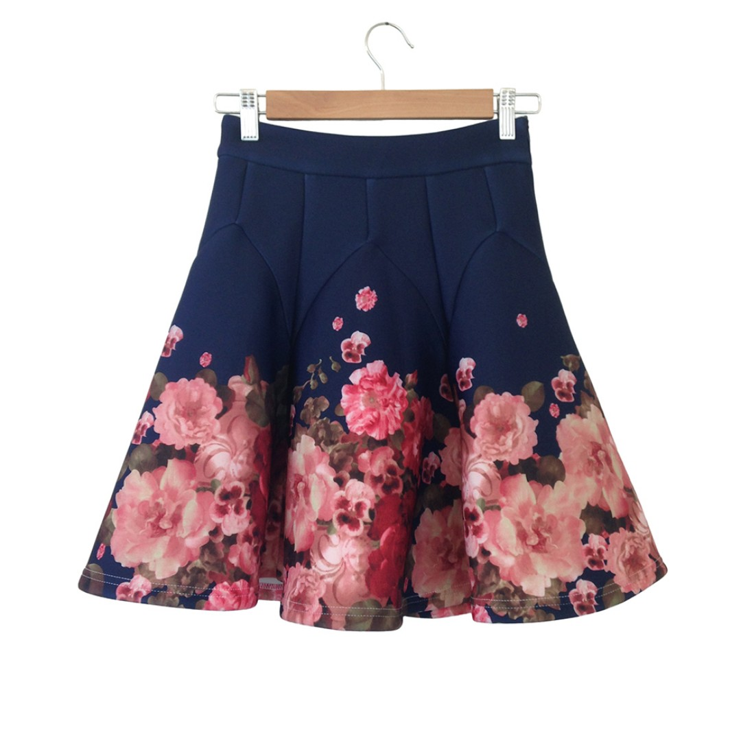 Ruffle Floral Skirt