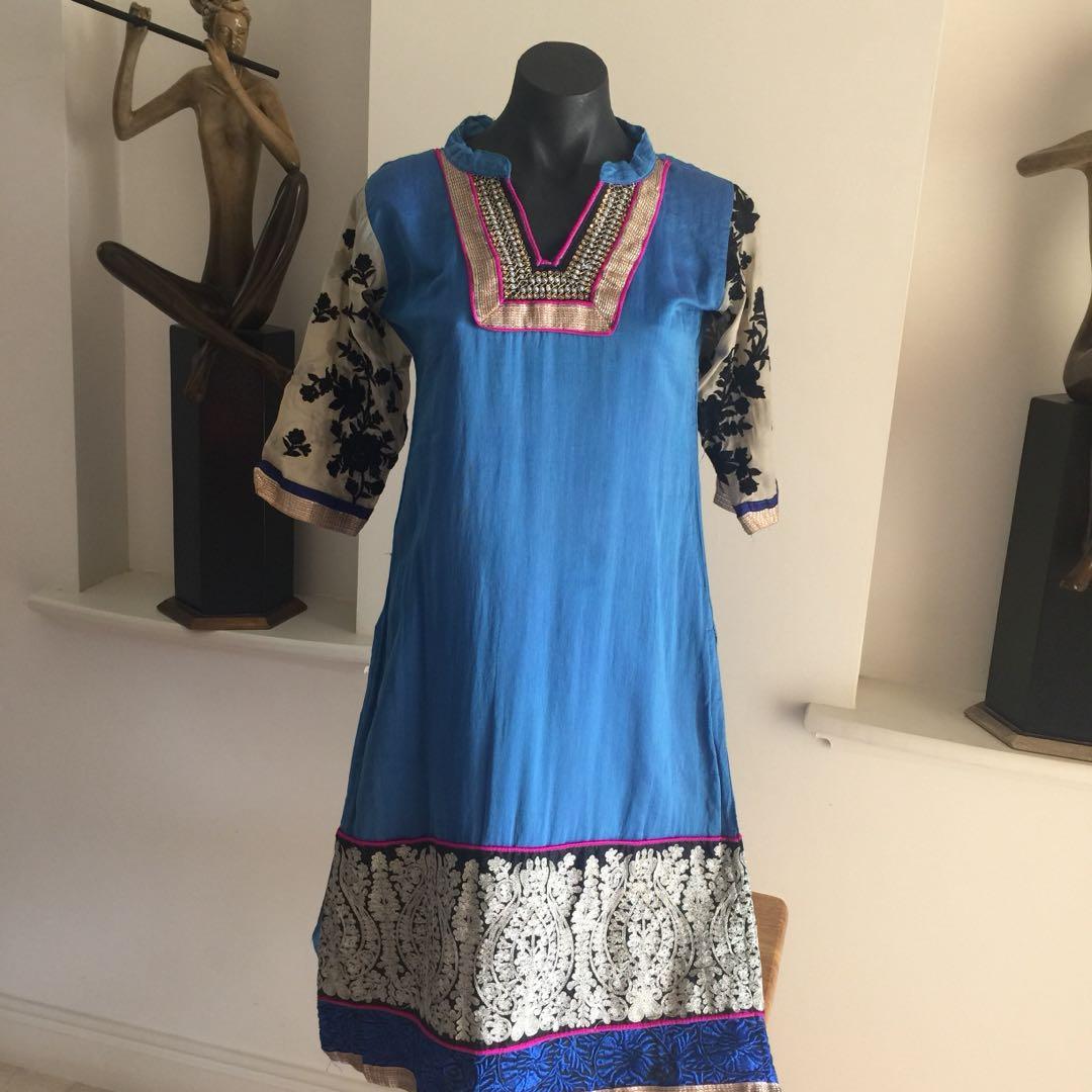 (S) BAJU MODEL GAMIS/ INDIA CUSTOM MADE BLUE