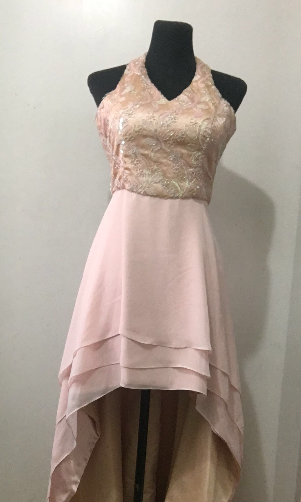SALMON PINK MULLET GOWN
