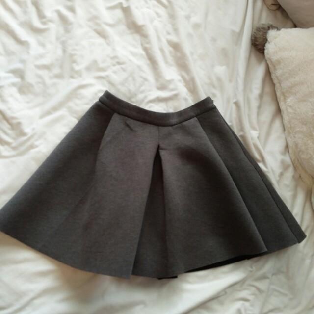 Short A-Line Structured Skirt