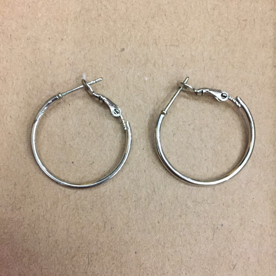 Stainless Steel Hoop Earrings #Bajet20