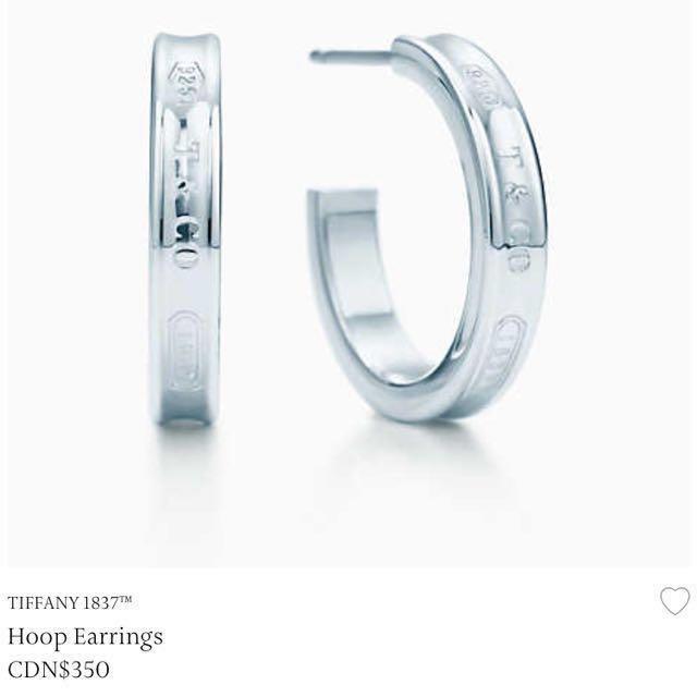 Sterling silver tiffany hoop earrings