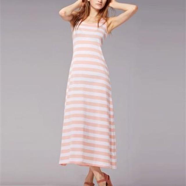Stripe dress giordano / giordano stripe long dress / maxi dress