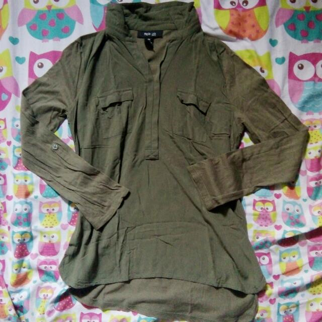 Style&Co. Army Green Blouse