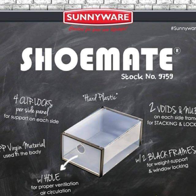 SUNNY WARE brand  SHOEmate SHOEbox (pinakamura na po ako sa lahat ng nagbbenta )