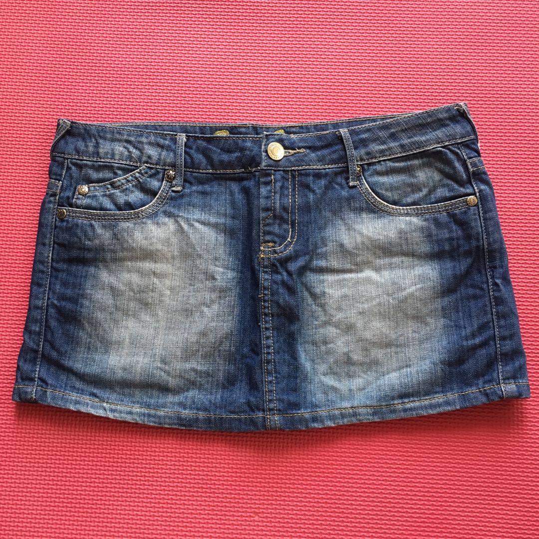 TEMT Jeans Denim Mini Skirt