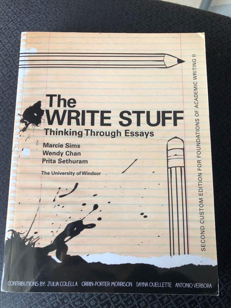 The Write Stuff: Thinking Through Essays