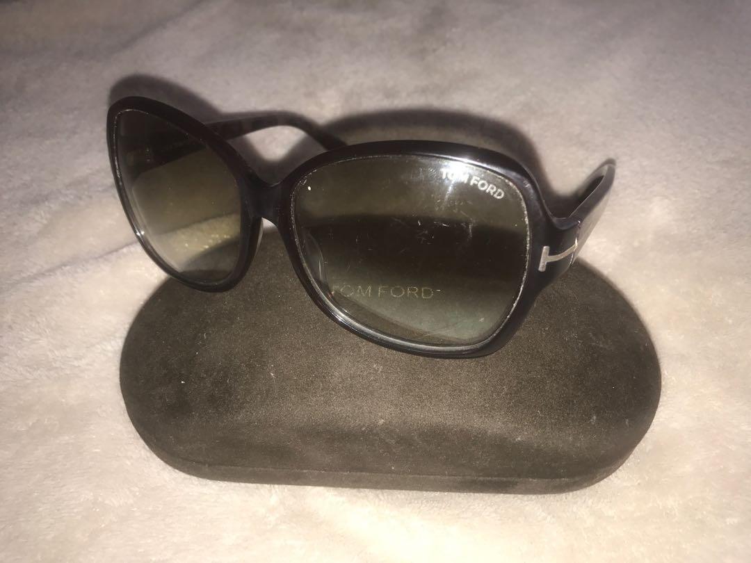 Tom Ford oversize brown tortoiseshell sunglasses