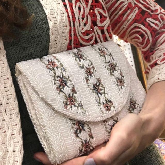 現貨美國二手Vintage奶奶的華麗年代手拿包