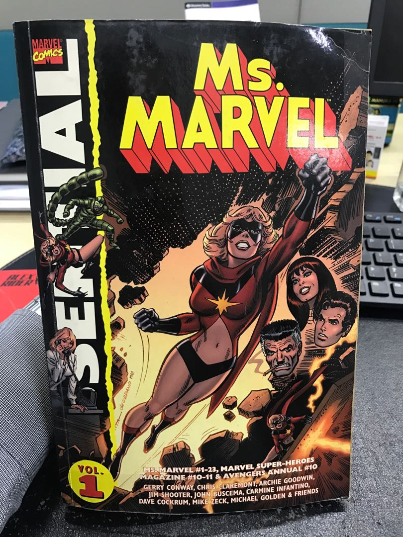 Vintage Ms Marvel Big Comic Book