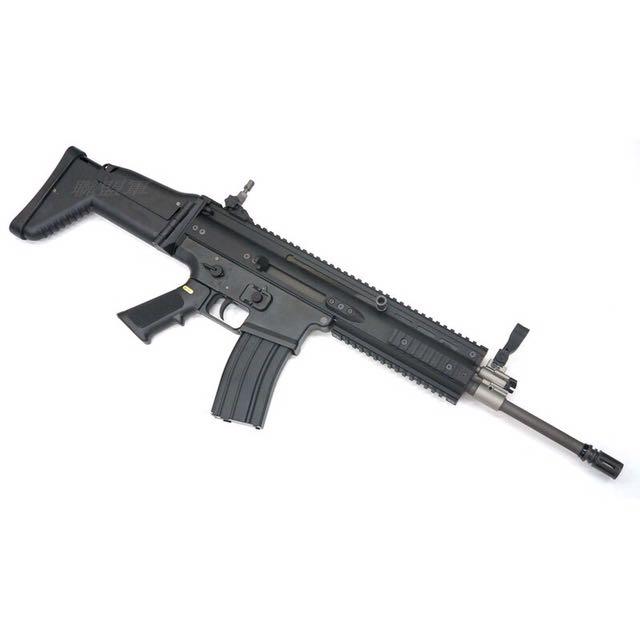 WE Scar-L GBB 全新 瓦斯 步槍 生存 黑