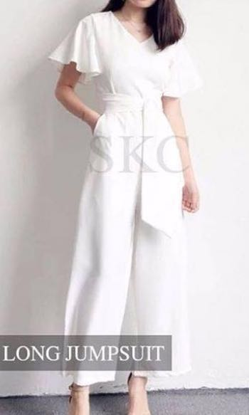 White Scuba Jumpsuit