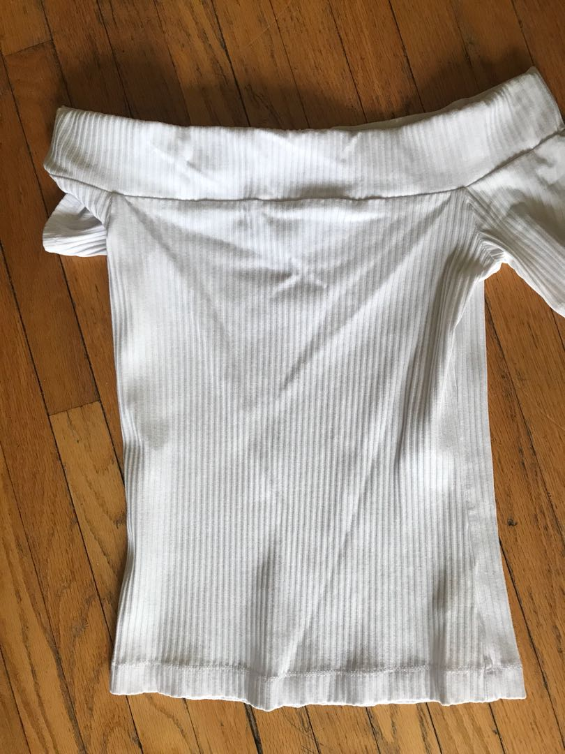 White Wilfred strapless shirt - size small