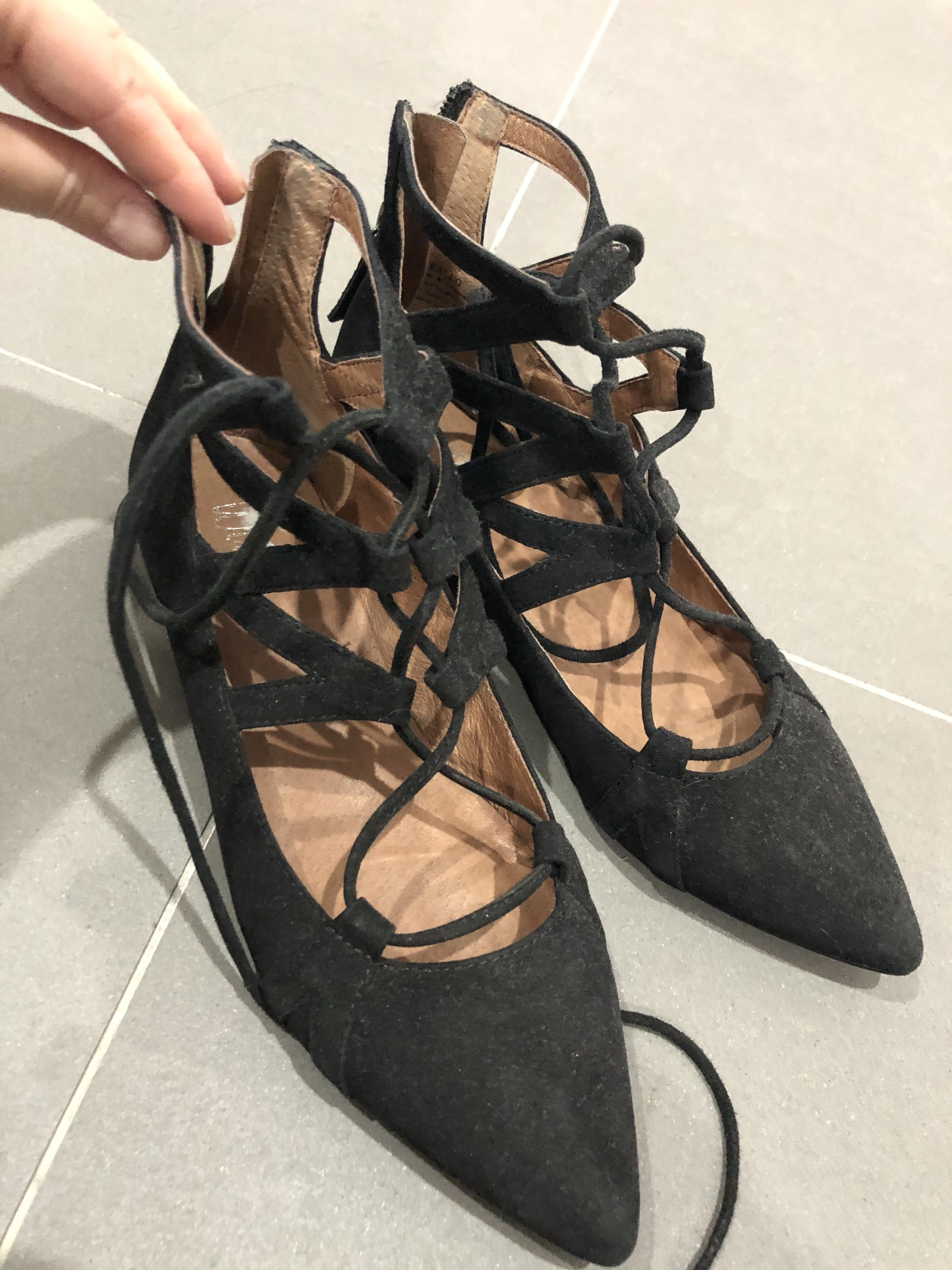 Wittner caged flats size 37 worn once