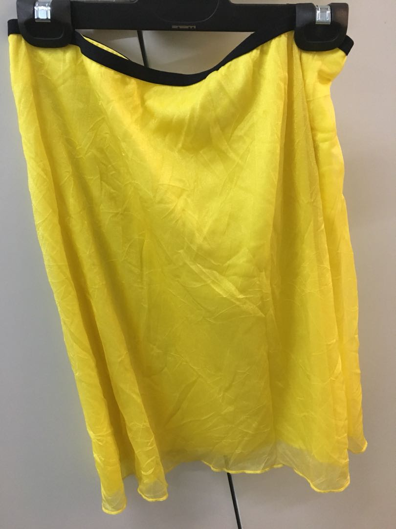 Yellow Kookai knee length skirt
