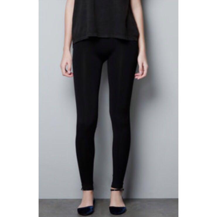 Zara Basic 💋 High Waisted Velvet Leggings
