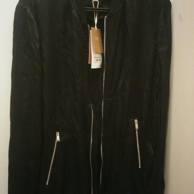 Zara long lightweight bomber jacket
