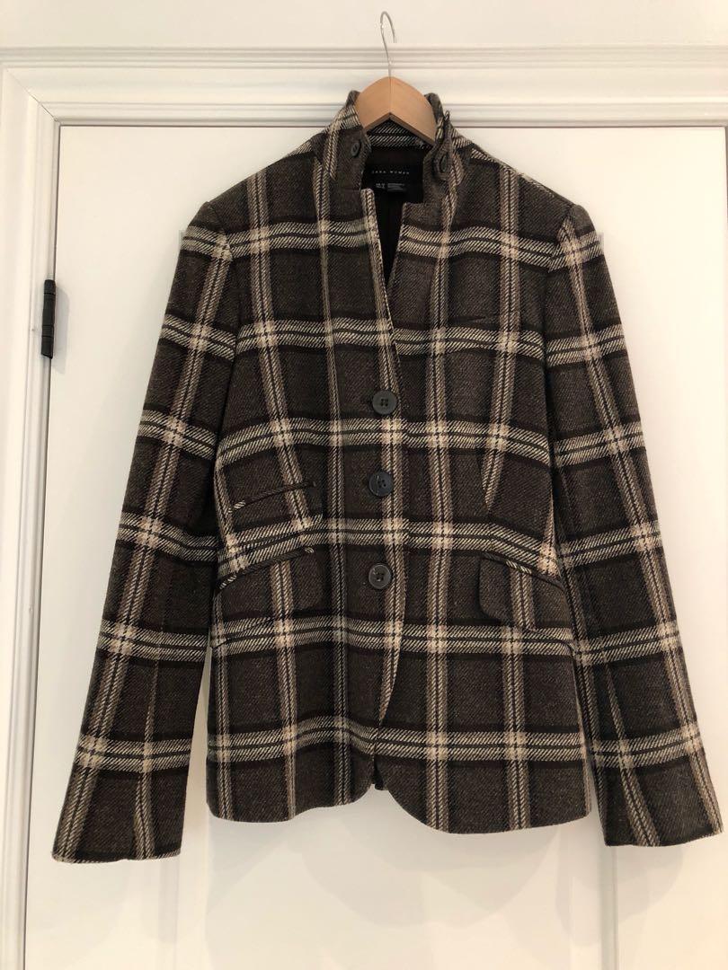 Zara's equestrian inspired plaid jacket