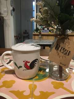 Mug Keramik Motif Ayam Kopin