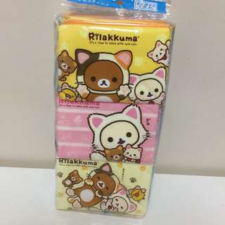 Rilakkuma Japanese Tissue Packs