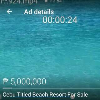 Cebu-Samboan Beach Resort For Sale