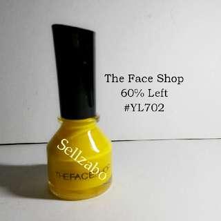 6/10 The Face Shop Yellow Colour Nail Polish Sellzabo