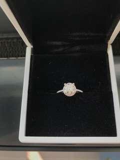 18K White Gold custom made 1.19ct diamond engagement ring