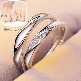 CPR-3001 • Couple💖S925 Silver Simple Love Band Rings• FREE SIZE ADJUSTABLE