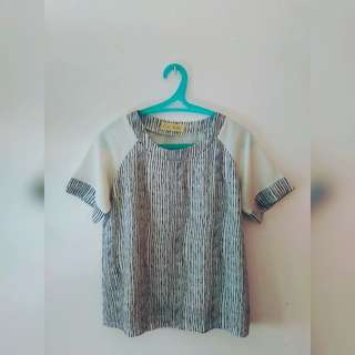 Ciao Bella White Top with Stripes