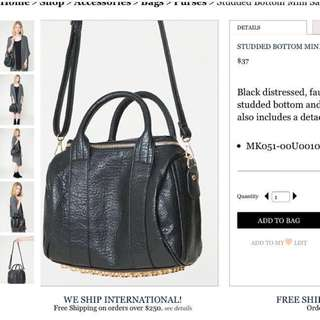 Brandy melville studded bottom mini satchel sling bag