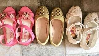 Kid's shoes (Dora s26, pink s28, gold s28) TAKE ALL for P250 or P100each