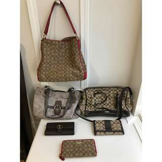 Auth Coach Kate Spade and Michael kors bag