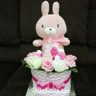 Easter Bunny Mini Diaper Cake (in stock)
