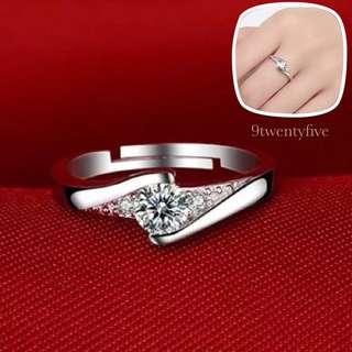 SRW-007 • S925 Silver Precious Love Ring • ADJUSTABLE SIZE •