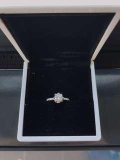 18K Gold custom made 0.78ct diamond engagement ring