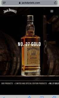 Jack Daniel Tennessee No 27 Gold