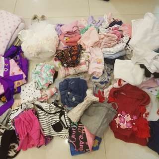 80 pieces baby girl clothes 12 to 24months
