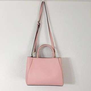 Pink Top Handle Handbag